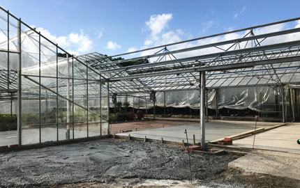 Building works at the nursery