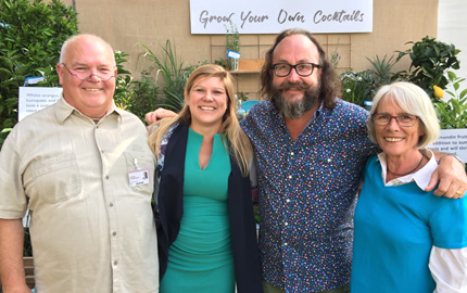 Plants4Presents meeting Dave from the Hairy Bikers