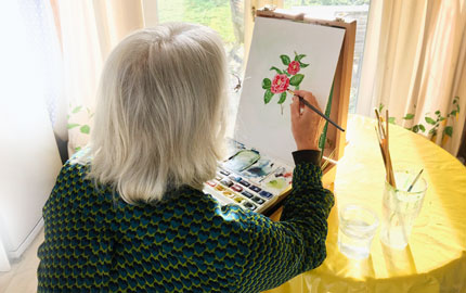 Isobel Painting Camellia Card