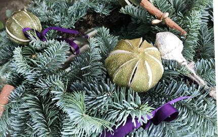 Decorated Spruce Wreath